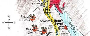 Senovės Egipto žemėlapis