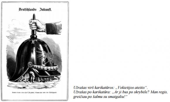 """D šaltinis (1870 m. austrų karikatūra """"Vokietijos ateitis"""")"""