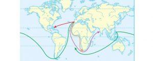 Didžiųjų Geografinių Atradimų žemėlapis