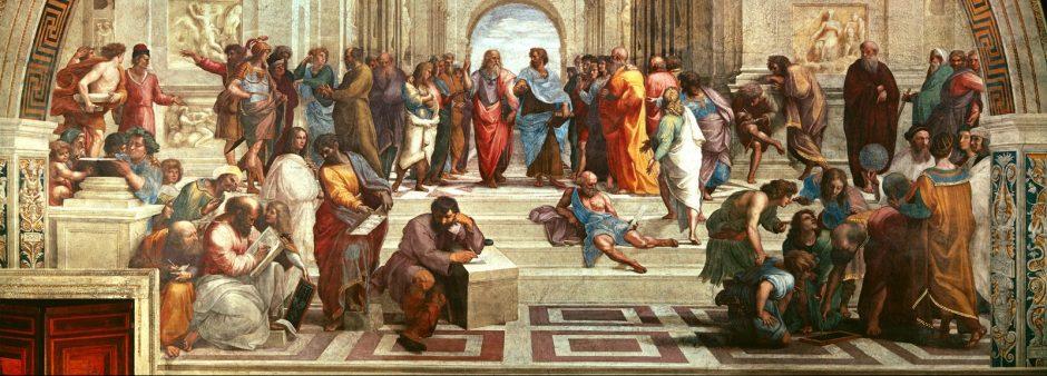 Rafaelio Atėnų mokykla - renesansas, didieji geografiniai atradimai, reformacija