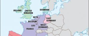 Europos integracinis žemėlapis (EEB ir plieno bei anglies)