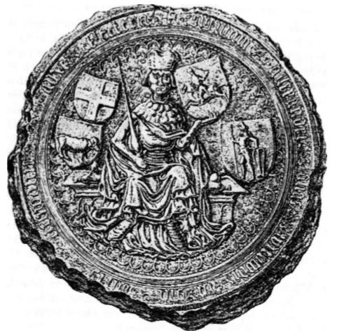 Didysis (majestotinis) Vytauto antspaudas užrašu: Sigillum Alexandri alias Witowdi Dei graĮtia] ducis Lith . . . alie et cetera.