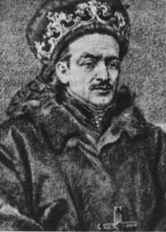 Kazimieras, 1440-1492 m. Lietuvos kunigaikštis, nuo 1447 ir lenkų karalius (J. Mateikos piešinys)