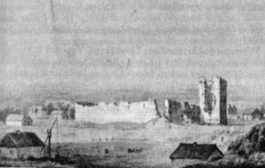 Krėvos pilies griuvėsiai