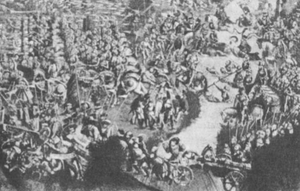 Mūšis ties Orša (senas nežinomojo autoriaus paveikslas).