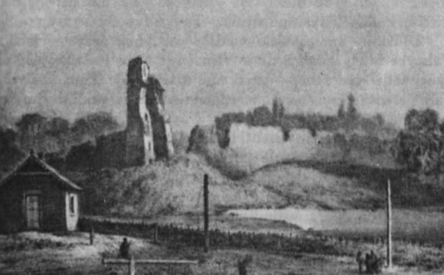 Medininkų pilies griuvėsiai. Buvusi didžiųjų kunigaikščių vasaros rezidencija prie Vilniaus.
