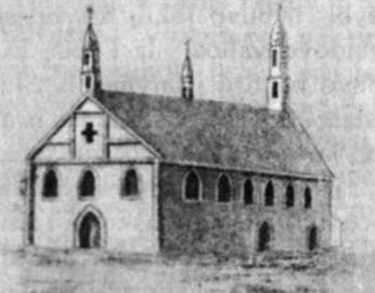 Pirmoji Vilniaus katedra, pastatyta 1387 m., sudegusi 1399 m