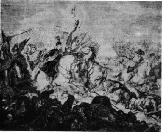 Salaspilio Kirchholmo mūšis J. Kosako paveikslas