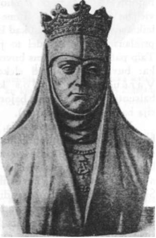 Zigmanto Augusto sesuo Ona (†1596, biustas iš antkapio, esančio Krokuvos katedroje)
